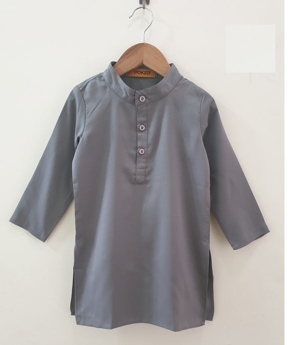 Grey kurta and off white pyjama
