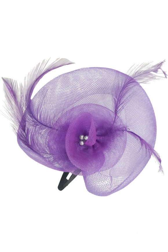 Purple Hair Fascinator