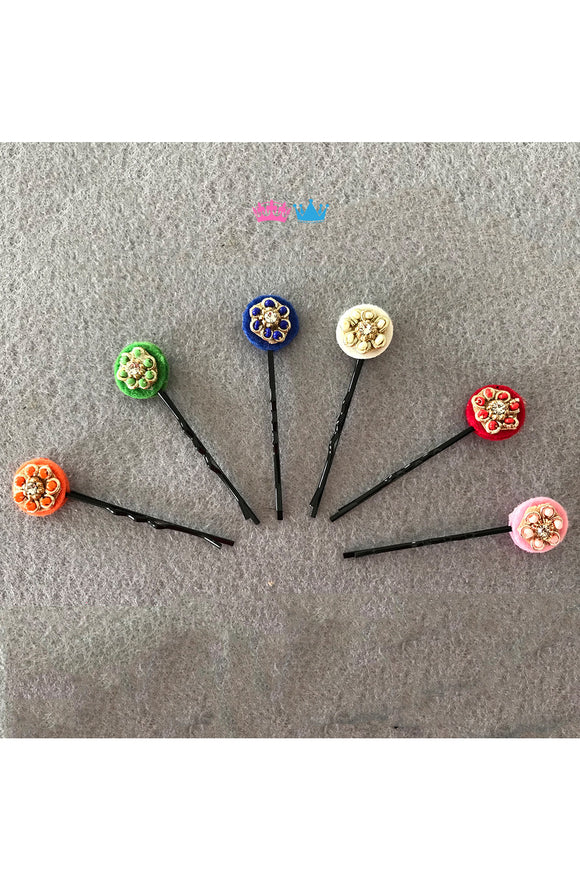 Trendy circle theme hair clips