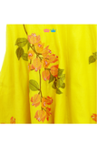 Yellow bougainvillea embroidered lehenga and top