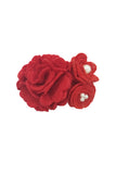 Red Flower Cluster Wristband