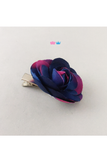 Small Blue Pink Flower Clip