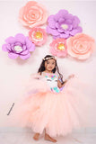 Soft Peach Unicorn Tutu Gown