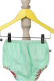 Organic Mint Green Strappy paneled blouse and shorts set