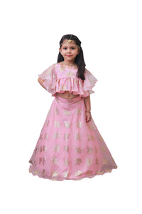 Pink Indo Western Ghagra
