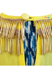 Blue Dhoti and Yellow Cape Set