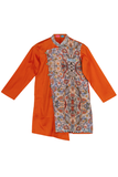 Katha Print Kurta With Churidar