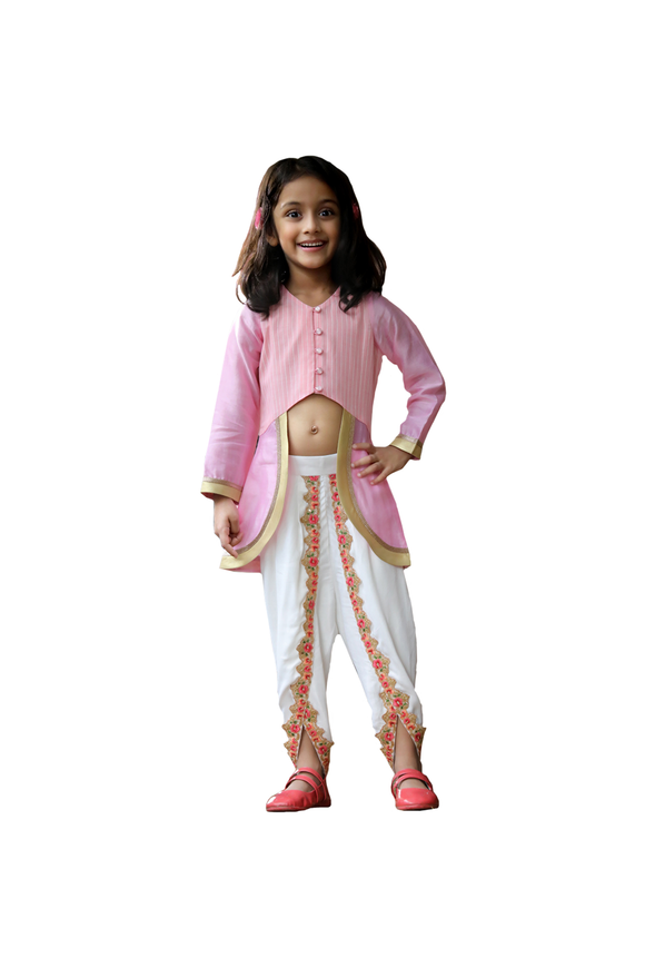 Royal Blush Dhoti Set