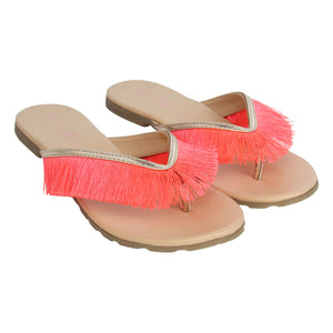 Mini Fringe Pink Footwear