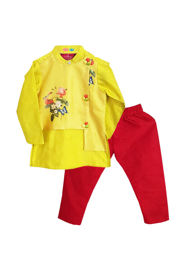 Floral Print Kurta with Churidar