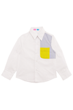 White and yellow pocket shirt stories