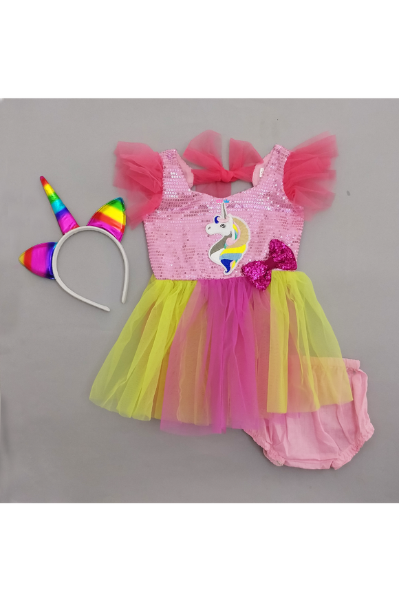 Unicorn smash cake outfit for girls