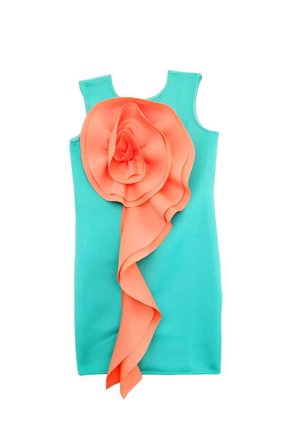 Mint green neoprene dress