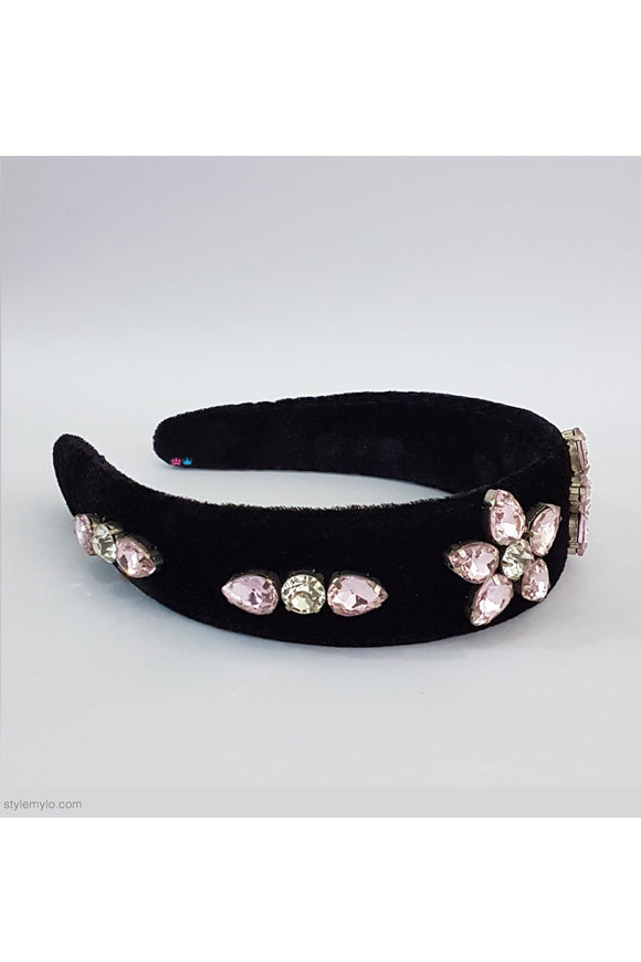 Velvet rhinestone magic hairband