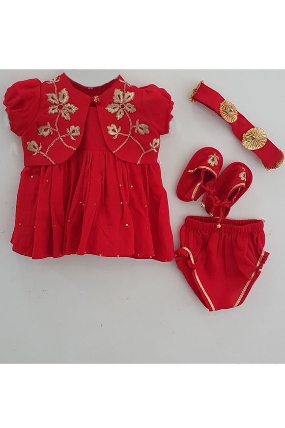 Red embroidered print jamna set for girls! Designer Salwar Suit Sets for Baby Girls, Designer Ethnic wear for Girls, Designer Indian wear for Girls, Designer Kurta Dhoti for Baby Girls, Designer Kurta Sharara Sets for Baby Girls, Designer Kurta Garara Sets for Baby Girls, Designer Anarkali Suits for Girls