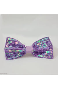 Purple sequins bow clip! designer Hair Accessories, designer Hair Clips, designer Hair Bands, Hair Accessories for girls