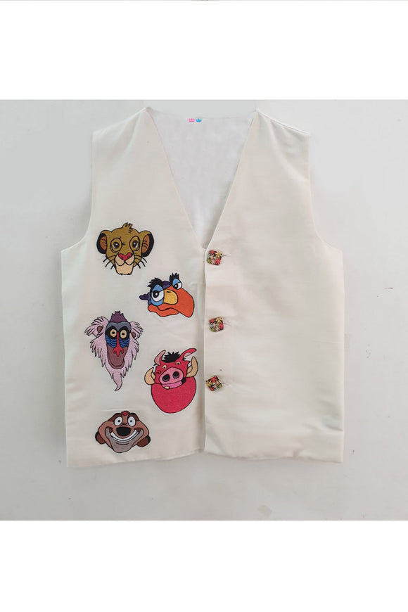 Lion king embroidered waistcoat