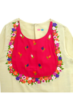 Floral embroidered top with sharara