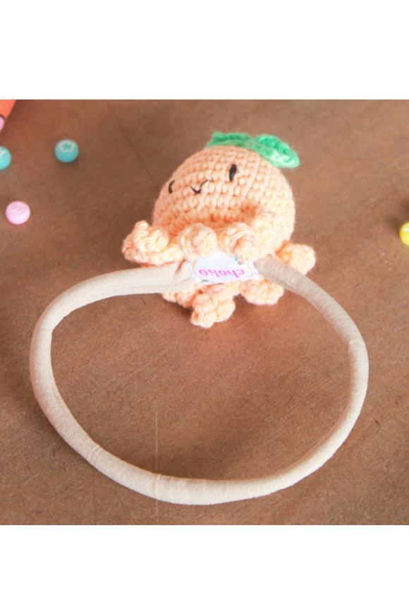 Boys Swim Hat Shark Orange