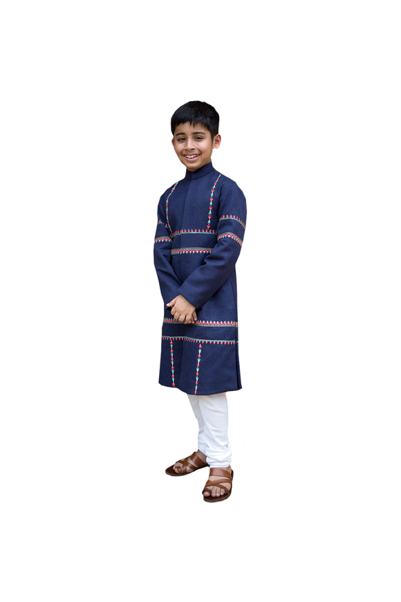 Blue Tribal Tales Sherwani with Churidar
