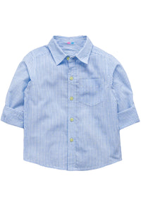 Light blue full sleeves striped shirt