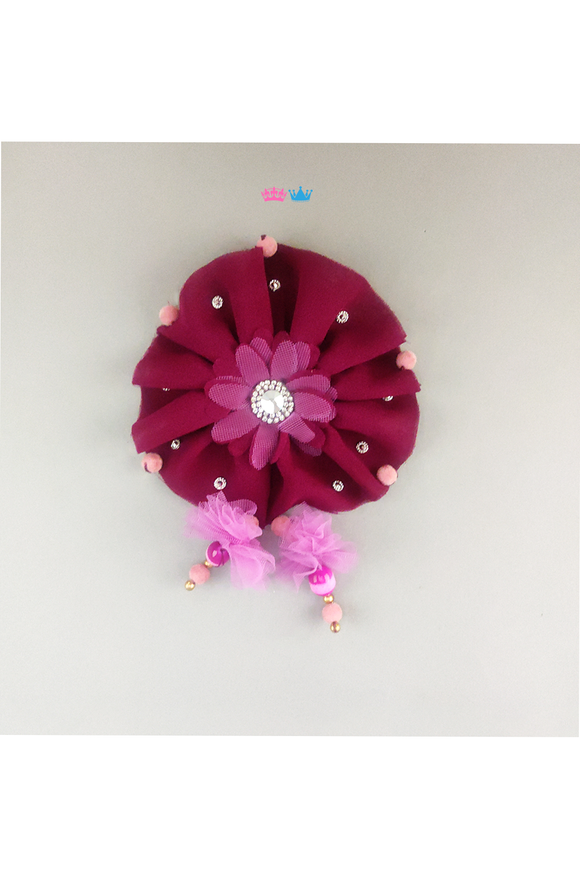 Rolling in pink theme hair clip