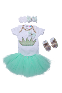 Mint Green Crown Tutu Outfit