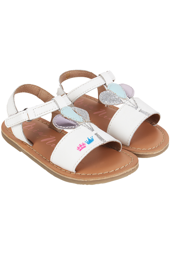 White Bounce Sandals