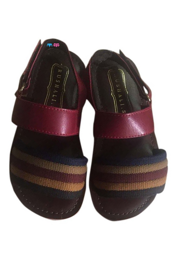 Burgundy brown sandals