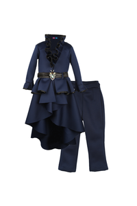 Navy Blue Coat Pant Set