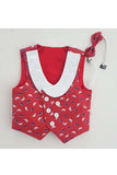 Red hat print toddler waistcoat