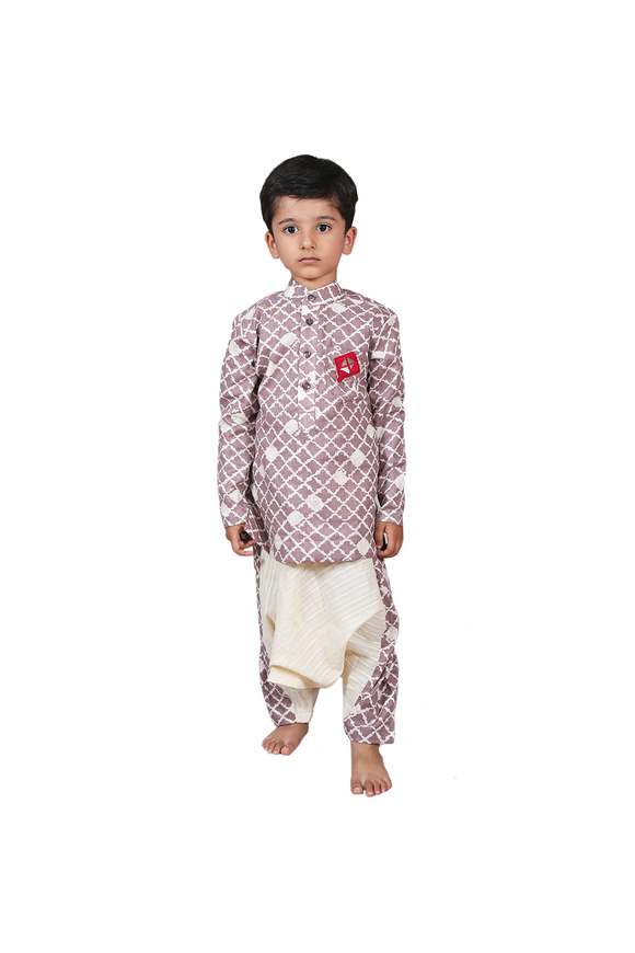 Classic wrap dhoti with kurta set