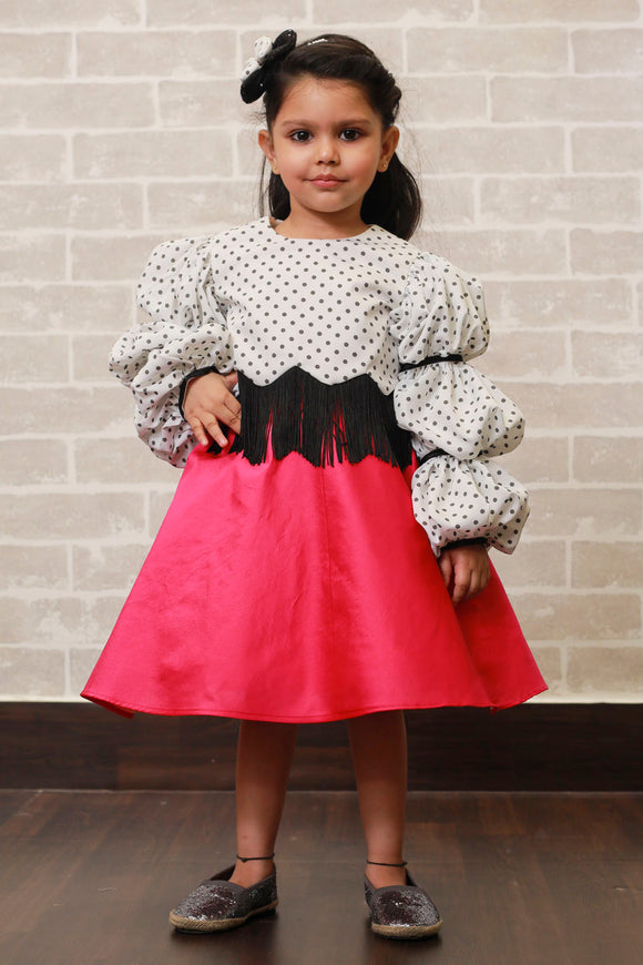 Polka Retro Top with Pink Skirt