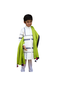 White Tribal Tales Sherwani with Churidar