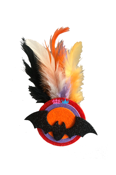 Halloween  Feathery Bat Theme Badges