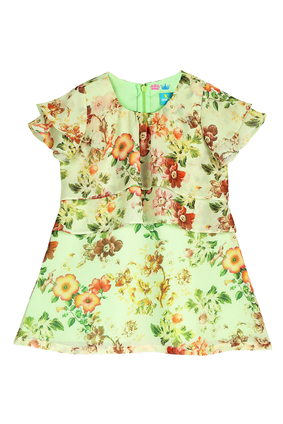 Spring burst layered dress