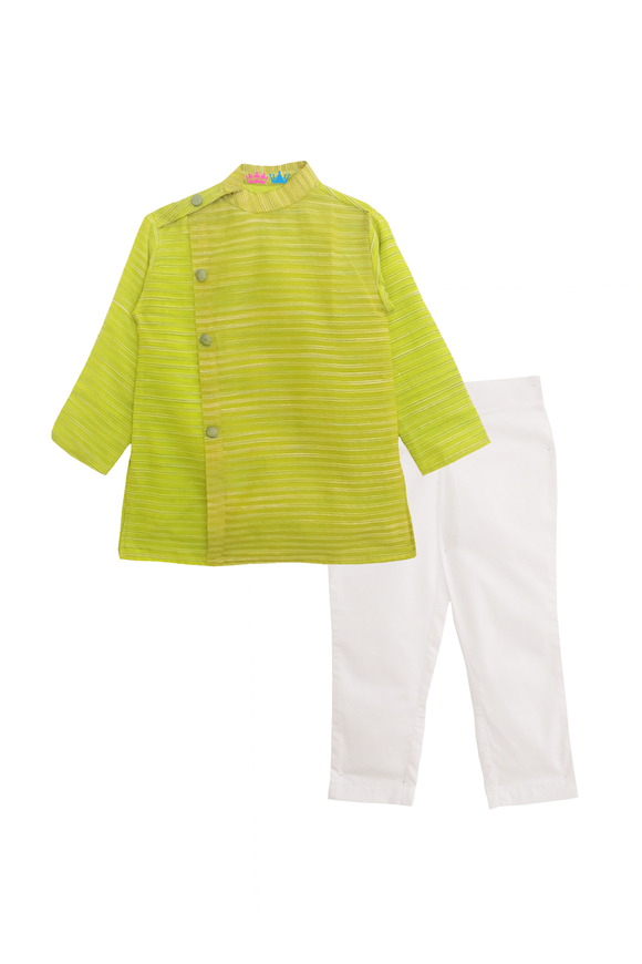 Chanderi stripes kurta with pants