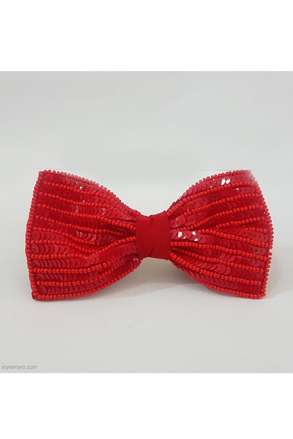 Red sequins bow clip! designer Hair Accessories, designer Hair Clips, designer Hair Bands, Hair Accessories for girls
