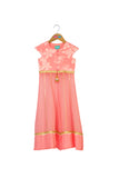 Misty Rose Anarkali Set