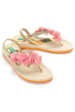 Orange Flower Slipper