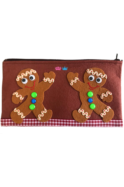 Ginger breadman pencil pouch