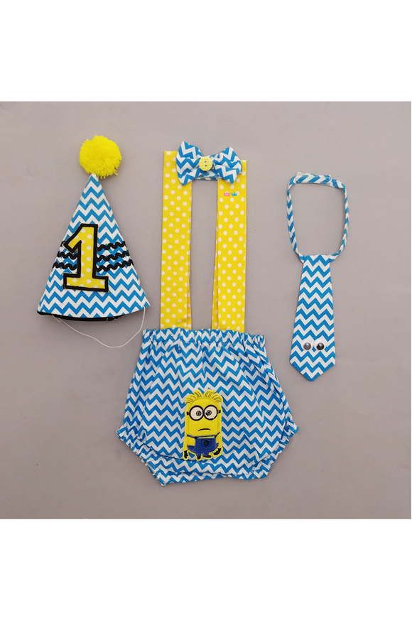 Minion smash cake outfit for boys