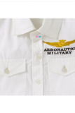 White aeronautic military shirt