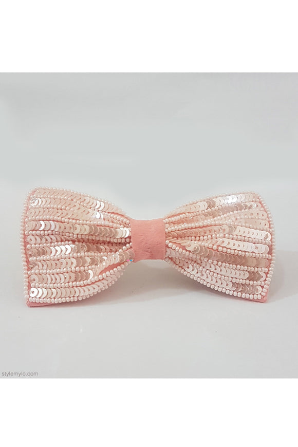 Rose pink sequins bow clip! designer Hair Accessories, designer Hair Clips, designer Hair Bands, Hair Accessories for girls