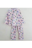 Owl print sleepwear set