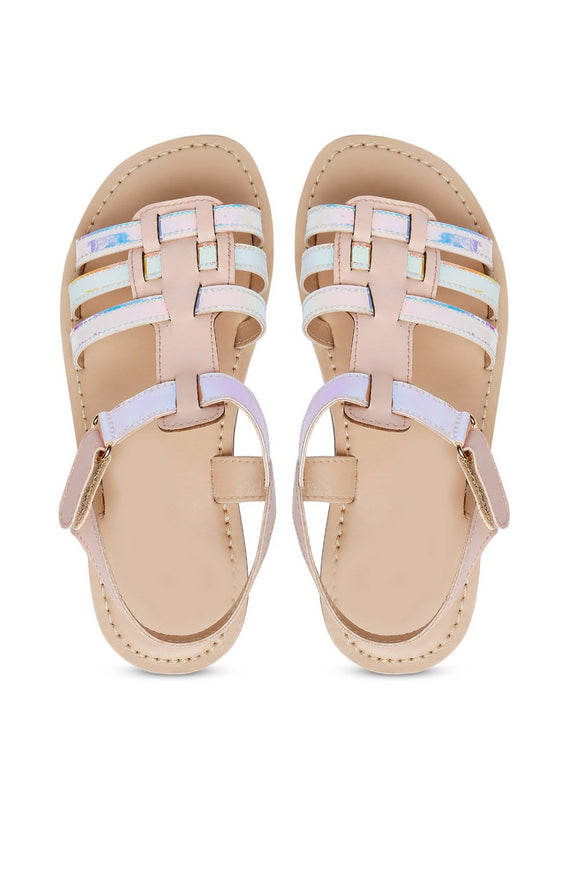 Shine pink multi sandals! Footwear for girls, Flip flop for girls, designer sandals for girls, belly shoes for girls, designer kolhapuri flats