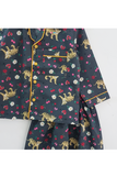 Grey tiger and flowers print nightsuit