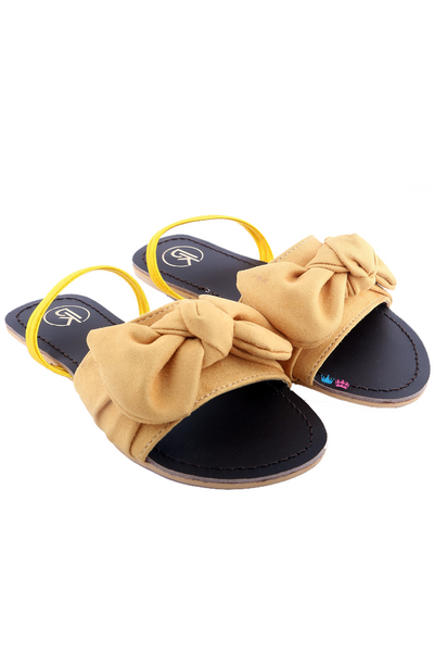 Yellow bow flats