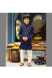 Dress with Ruffles-Grey/Blue