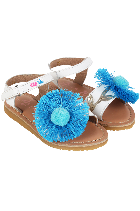 Daisy White Sandals